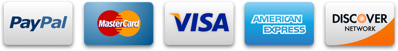 Accepted payment methods: Visa | MasterCard | American Express | PayPal