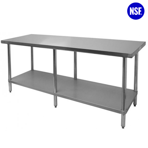 Stainless Steel NSF Approved 6 Legs Work Table