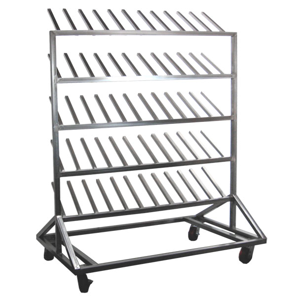Stainless Steel Mobile Boot Rack 30