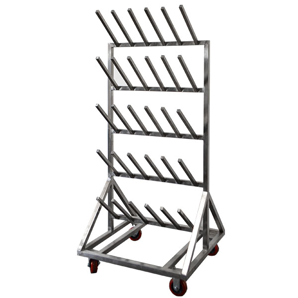 Stainless Steel Mobile Boot Rack 15