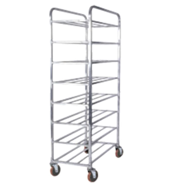 8 Tier Rod Shelves Platter Carts
