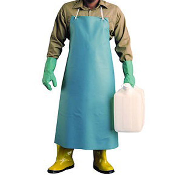 Catalog Green Vinyl Heavy Duty Apron With Stomach Patch
