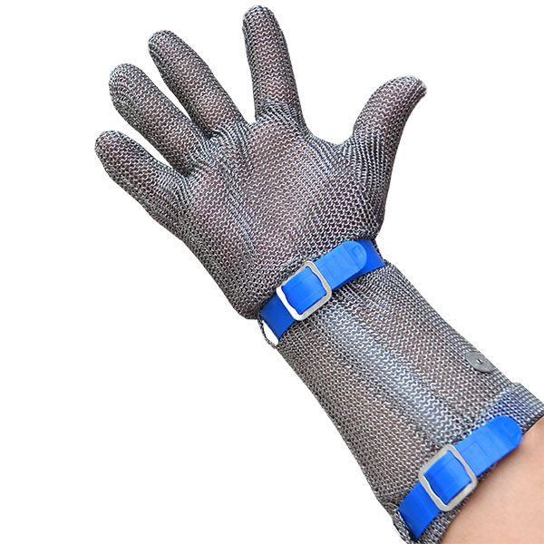 17 in Forearm Five Fingers Metal Mesh Glove