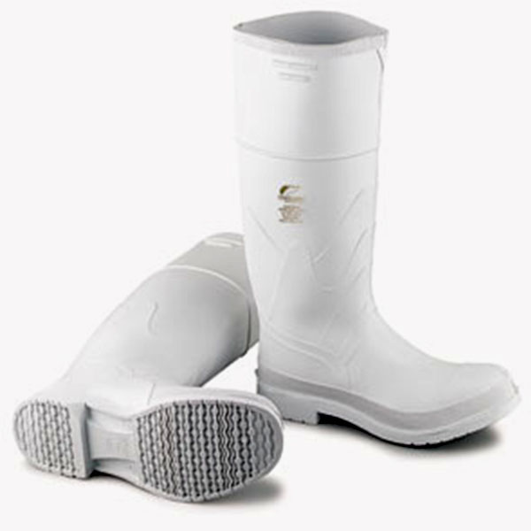 PVC White Steel Toe 16 in Boots